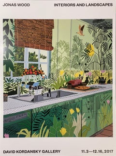 After Jonas Wood Jungle Kitchen Exhibit Poster Interiors & Landscapes Kordansky