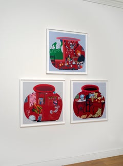 Matisse Pot 1, 2, 3 - three Contemporary Limited Edition screenprints