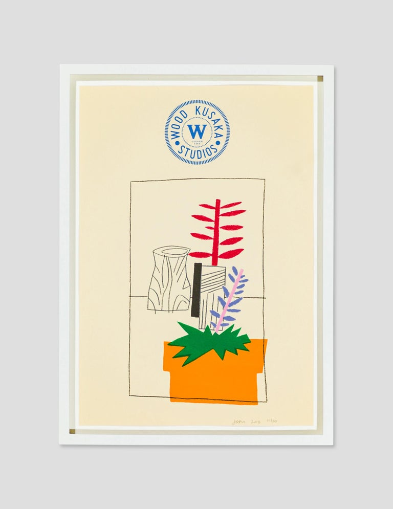 Jonas Wood Still-Life Print - Notepad Doodle 2 (State I)