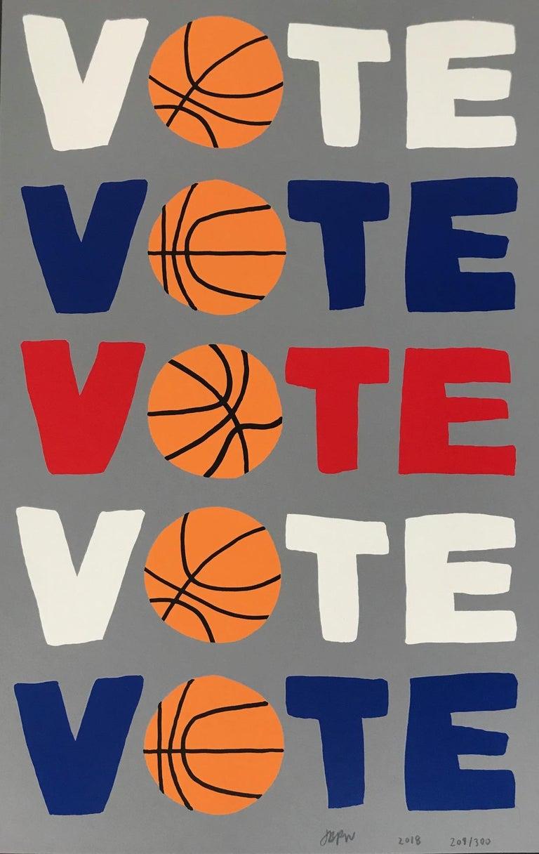 """Jonas Wood Print - """"Vote""""  2018"""