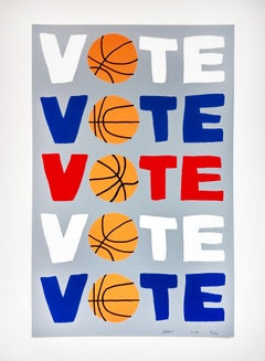 Vote, Limited Edition Screenprint, 2018, Basketball, Contemporary Art