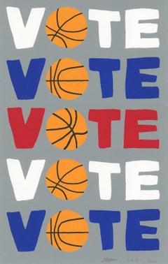 Vote -- Print, Screen Print, Text Art, Contemporary Art by Jonas Wood
