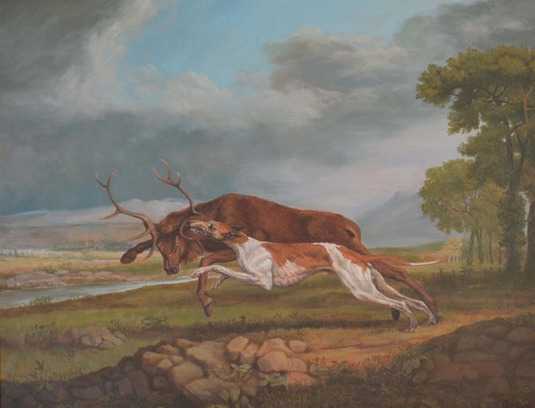 Hound Coursing A Stag (George Stubbs) Contemporary Copy by Jonathan Adams 1