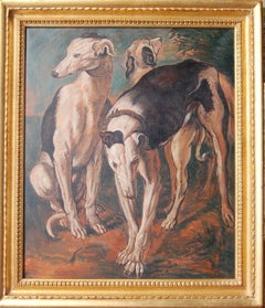 Three Greyhounds, Contemporary Copy of work by J Snyders 1650