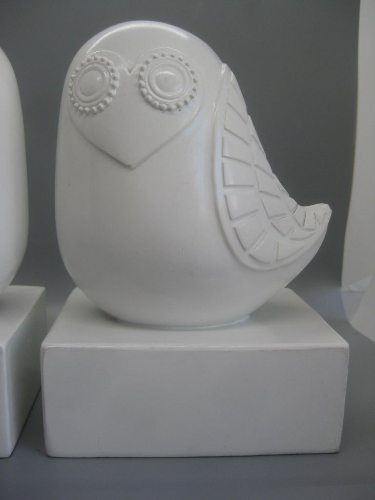 Jonathan Adler Happy Chic Lola Owl Bookends Sculpture In Good Condition For Sale In San Diego, CA