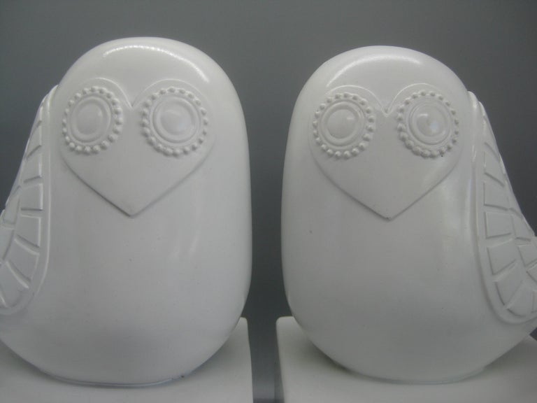 Contemporary Jonathan Adler Happy Chic Lola Owl Bookends Sculpture For Sale