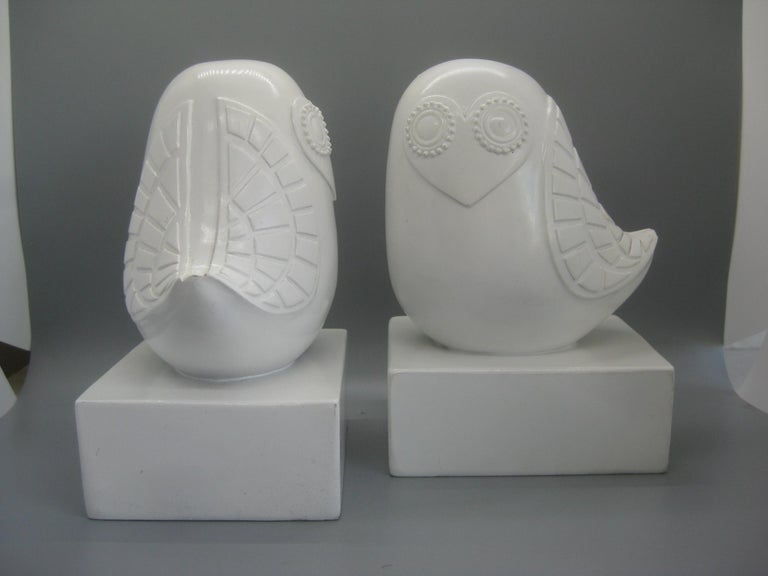 Jonathan Adler Happy Chic Lola Owl Bookends Sculpture For Sale 3