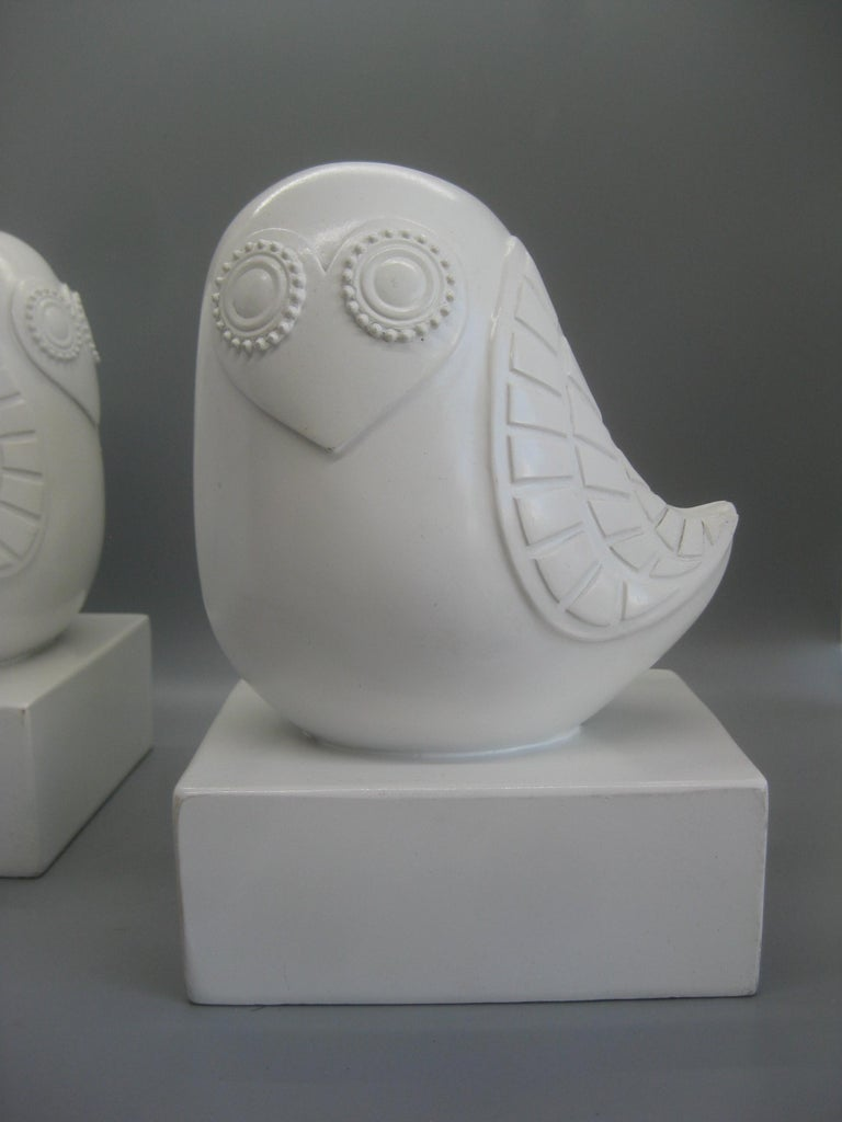 Jonathan Adler Happy Chic Lola Owl Bookends Sculpture For Sale 4