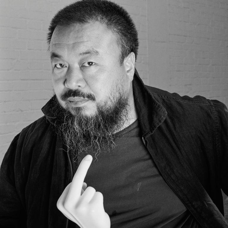Ai Weiwei in his studio, Beijing, 12 May 2007 - Photograph by Jonathan Becker