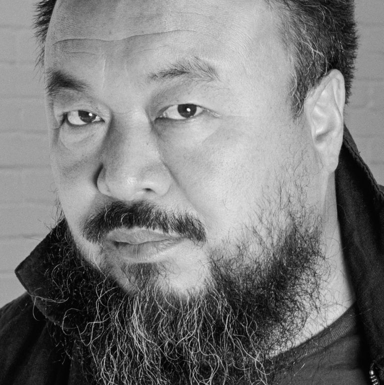 Ai Weiwei in his studio, Beijing, 12 May 2007 - Contemporary Photograph by Jonathan Becker