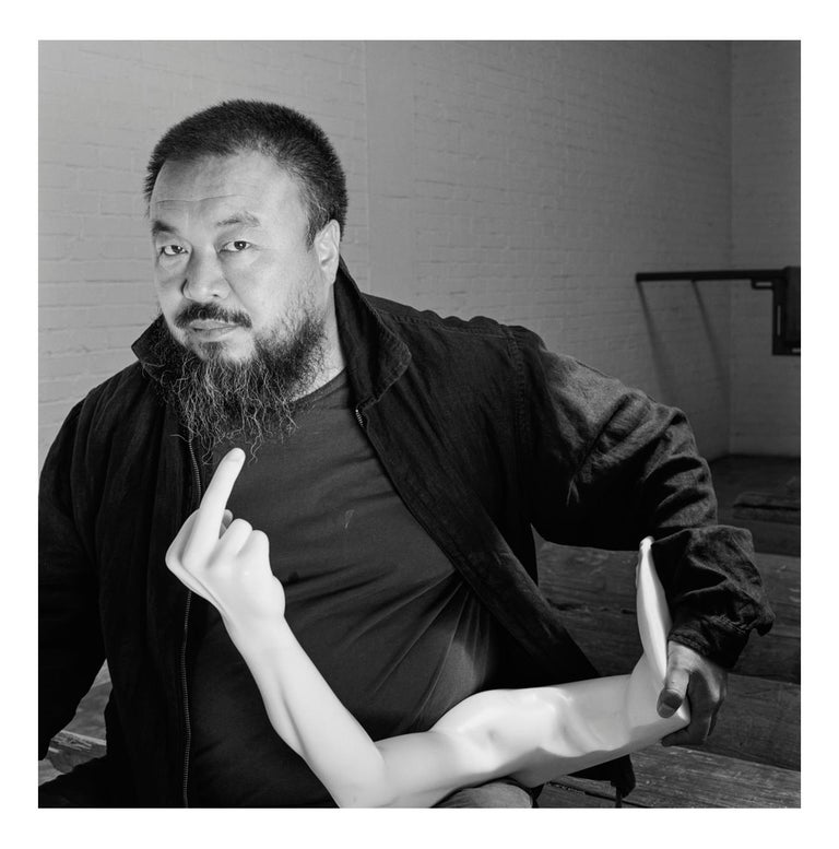 Jonathan Becker Black and White Photograph - Ai Weiwei in his studio, Beijing, 12 May 2007