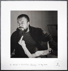 Ai Weiwei in his studio, Beijing, 12 May 2007