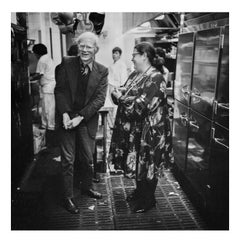 Andy Warhol and Elaine, Elaine's Kitchen, New York, 1976
