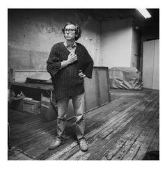 Christo in his studio, New York, 1983