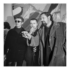 David Bowie, Damien Hirst, & Julian Schnabel, New York, 3 May 1996