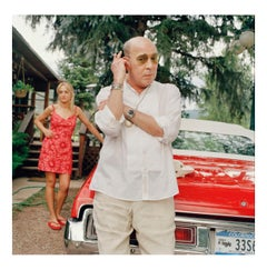 Hunter Thompson and Anita Bejmuk at home in Aspen, 7 July 2002