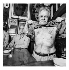 John Chamberlain at Kim Esteve's bar, Sao Paulo, Brazil, October 1994