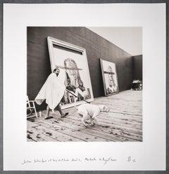 Julian Schnabel at his Outdoor Studio, Montauk, 13 August 2001
