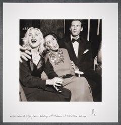 Martha Graham with Madonna & Calvin Klein at New York City Center, October 1990