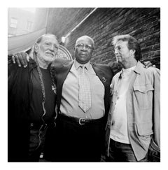 Willie Nelson, B.B. King and Eric Clapton at the Apollo Theatre, Harlem, 2003