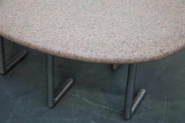 Jonathan Bonner Granite Postmodern Coffee Table, circa 1980, Signed For Sale 11