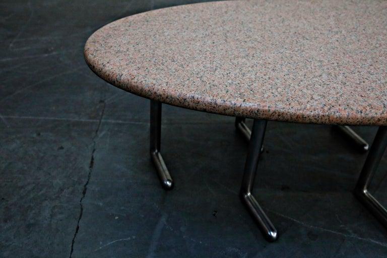 Jonathan Bonner Granite Postmodern Coffee Table, circa 1980, Signed For Sale 13