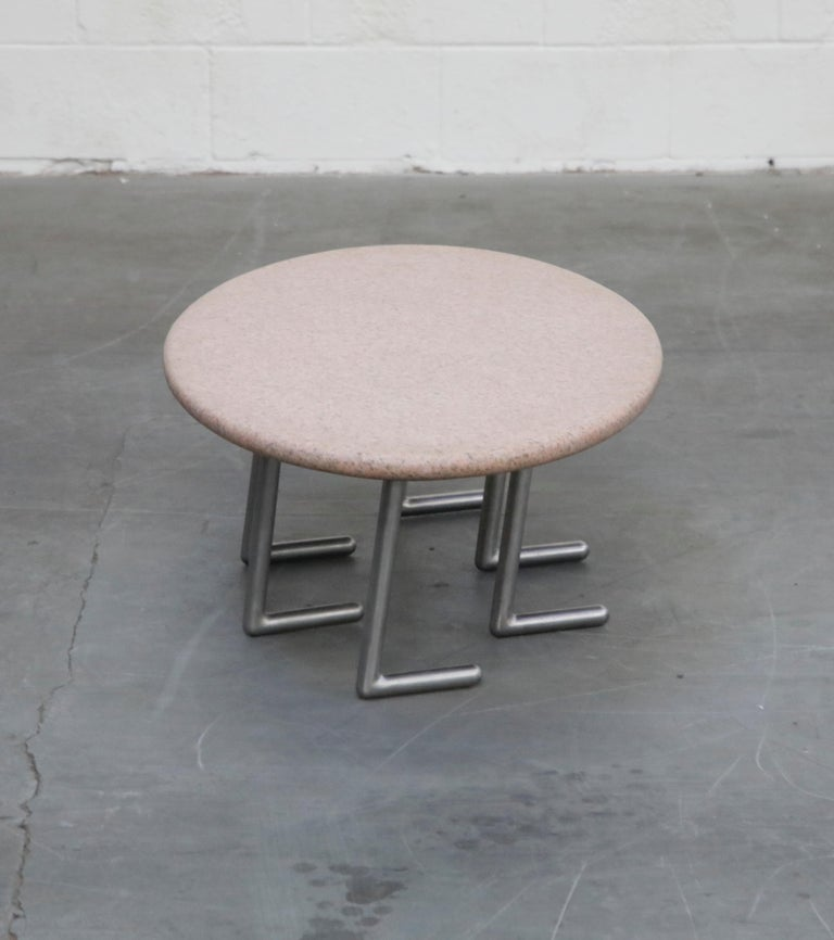 Late 20th Century Jonathan Bonner Granite Postmodern Coffee Table, circa 1980, Signed For Sale
