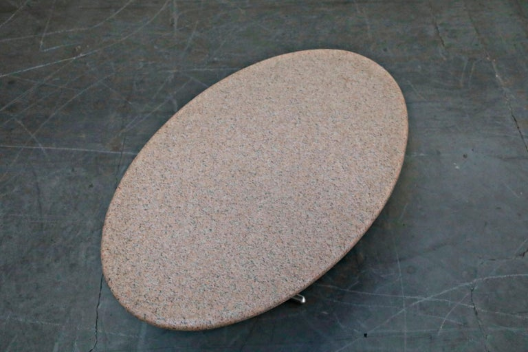 Jonathan Bonner Granite Postmodern Coffee Table, circa 1980, Signed For Sale 1