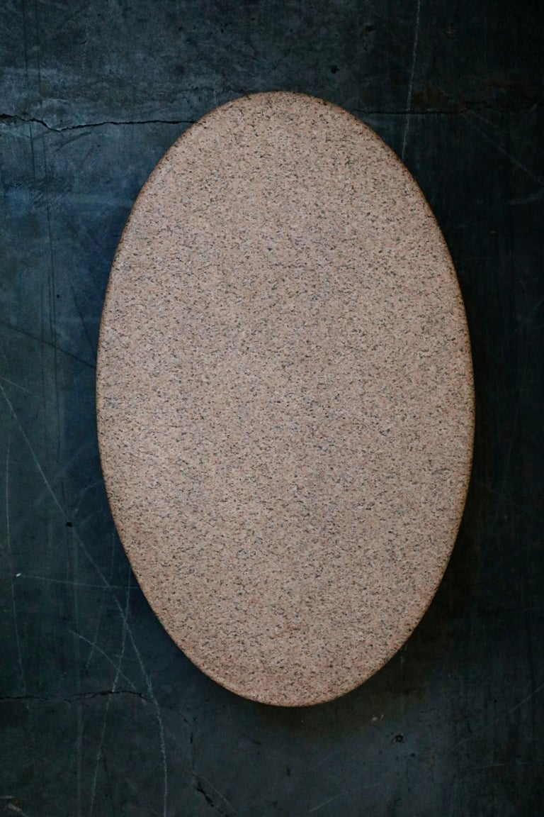Jonathan Bonner Granite Postmodern Coffee Table, circa 1980, Signed For Sale 2