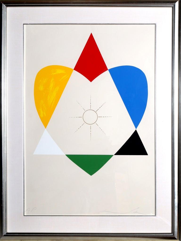 Jonathan Borofsky Abstract Print - The Balance of Love and Work Produces Energy