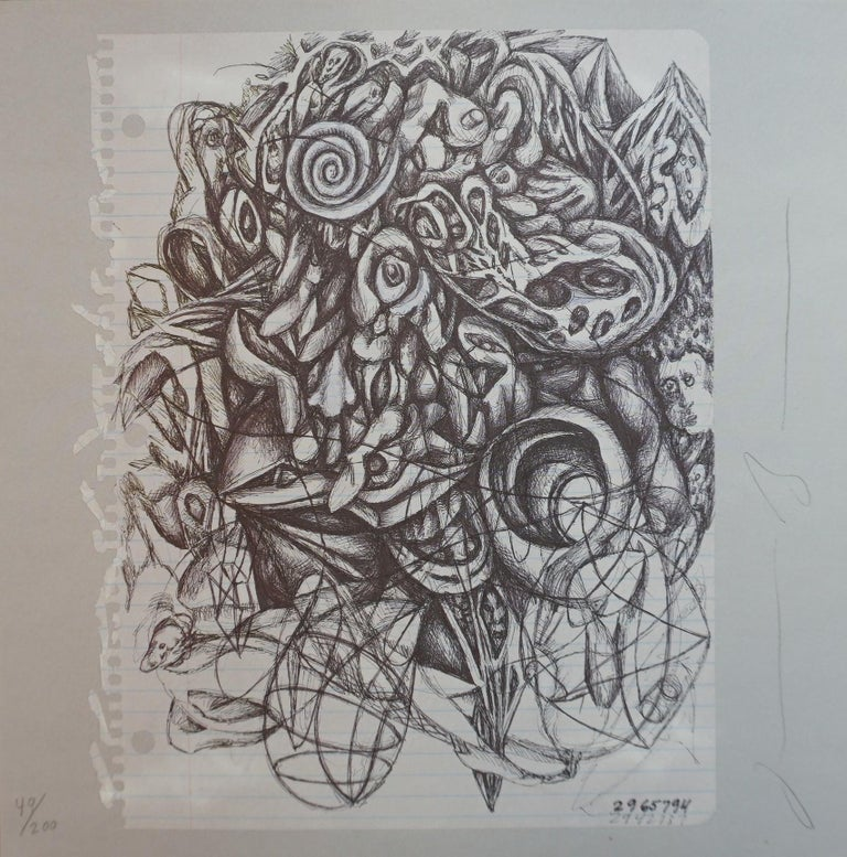 Jonathan Borofsky Abstract Print - UNTITLED (from the ARTSOUNDS Collection)