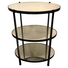 Jonathan Charles Three-Tier Églomisé Side Table Standing Bar
