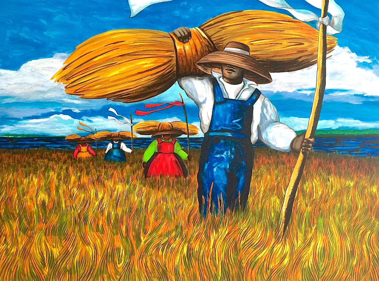 SWEETGRASS CARRIERS Signed Lithograph, South Carolina Lowcountry, Gullah Culture