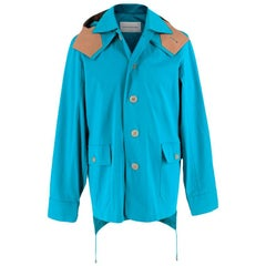 Jonathan Saunders Blue/Camel Hooded Jacket - Size 46