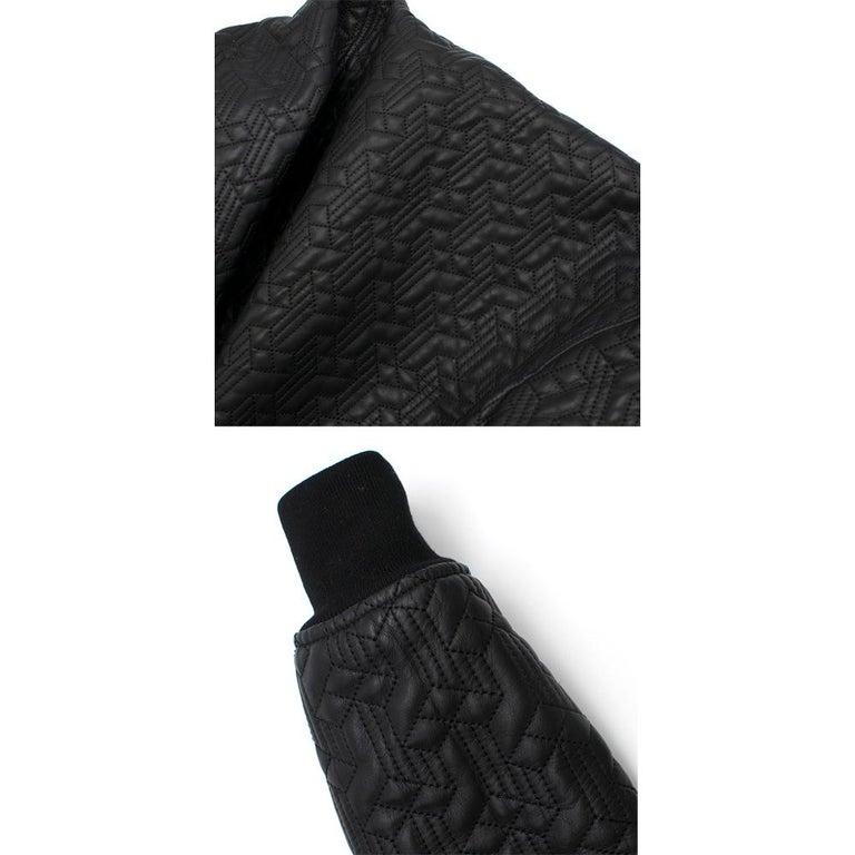 Jonathan Saunders textured leather bomber jacket - Size US 0-2 5