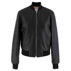 Jonathan Saunders textured leather bomber jacket SIZE 34