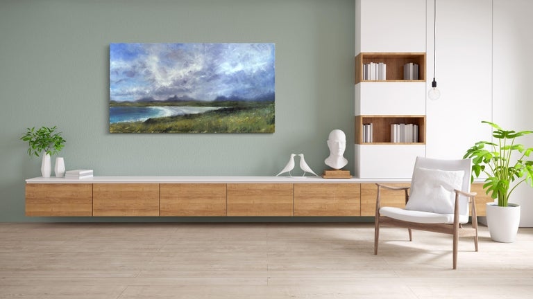 Achnahaird Beach - Scottish Landscape Painting, large-scale For Sale 1