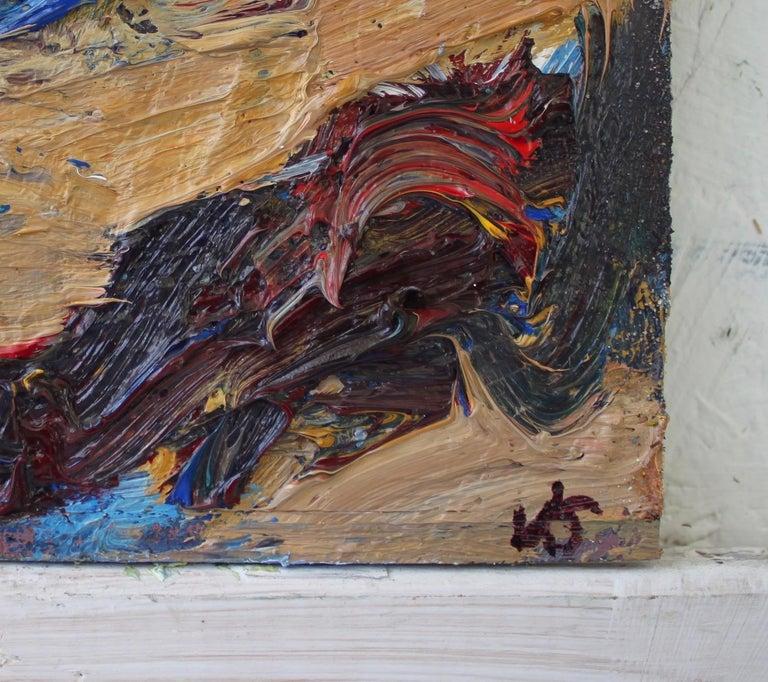 Shandwick Beach by Jonathan Shearer - Seascape oil painting, Ocean waves 1