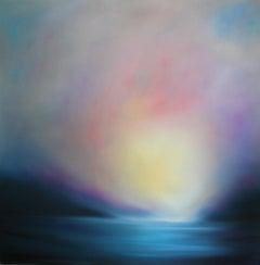 The Deep Blue - original abstract landscape painting contemporary modern art