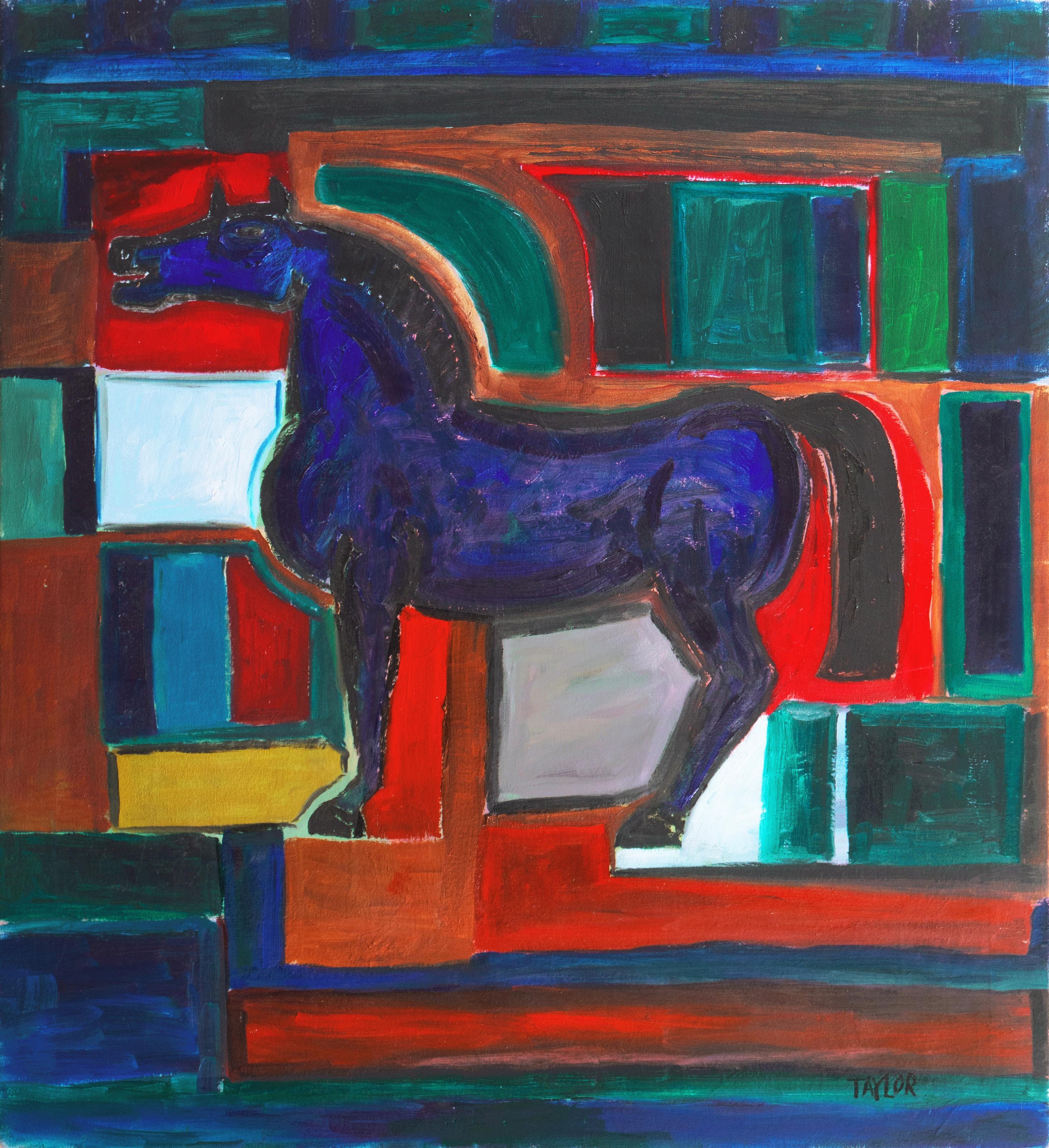 'Bucephalus', Large Modernist Oil, Santa Cruz, California, University of Maine