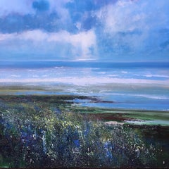 Ebb Tide, mixed media seascape painting, Norfolk Coast