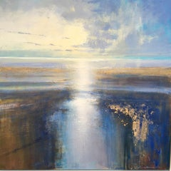 Afternoon Light on the Estuary - landscape coast Contemporary 21st C Modern Art