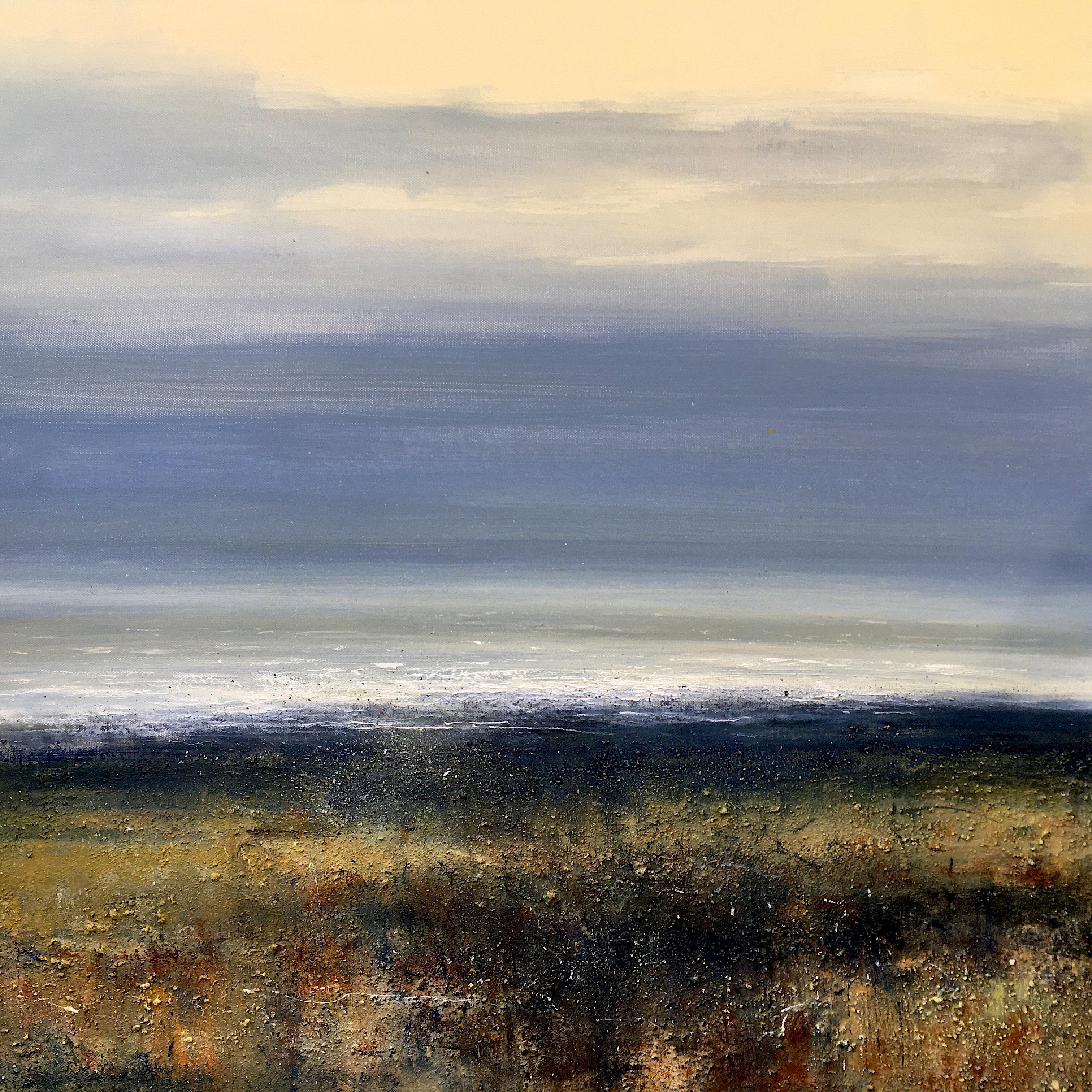 Estuary Dawn - original seascape water painting Contemporary 21st C Modern Art