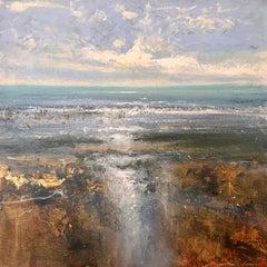 Estuary Horizon - abstract sea landscape painting contemporary 21st C Modern Art