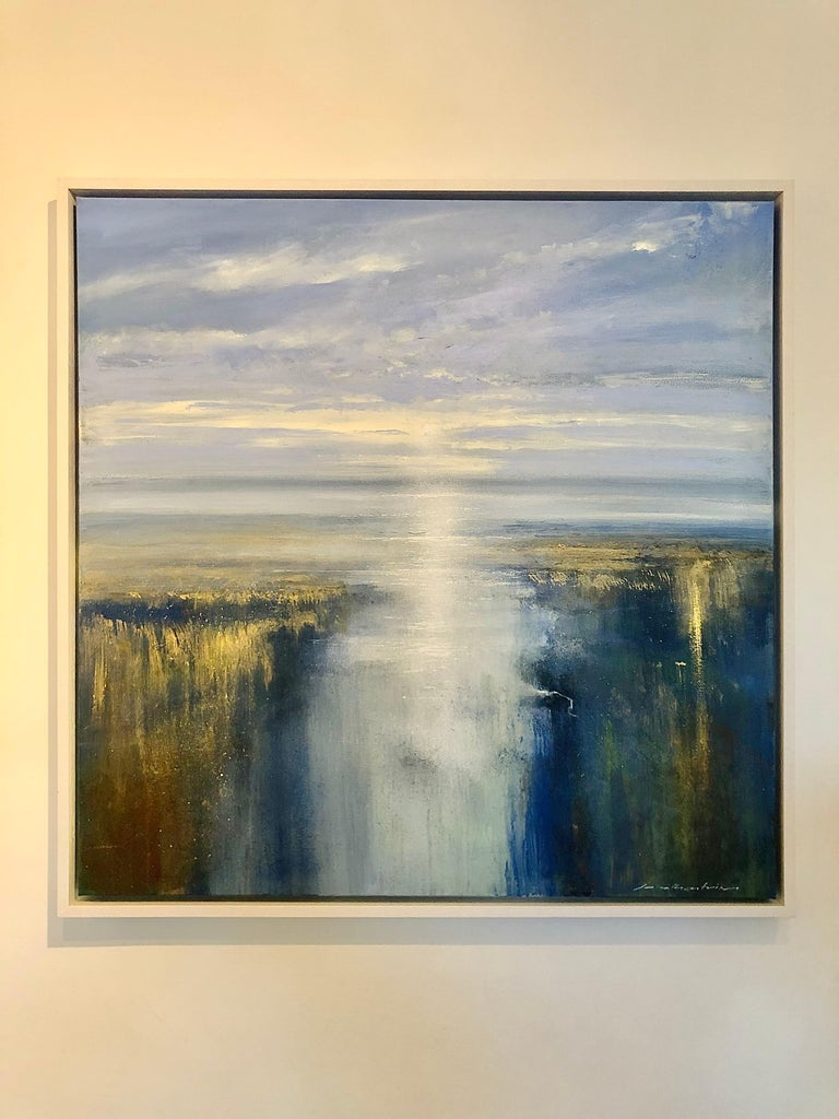 First Light on the Estuary - landscape painting Contemporary 21st Century Art - Painting by Jonathan Trim