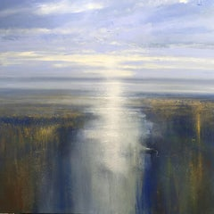 First Light on the Estuary - landscape painting Contemporary 21st Century Art