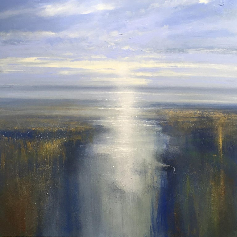 Jonathan Trim Abstract Painting - First Light on the Estuary - landscape painting Contemporary 21st Century Art