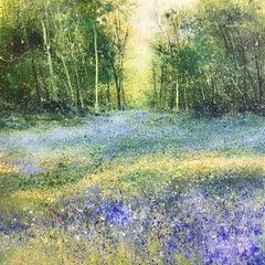 Forest Heat - original landscape floral painting Contemporary 21st Century