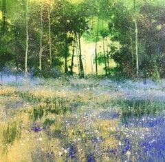 Forest Morning - original landscape painting Contemporary 21st C Modern Art