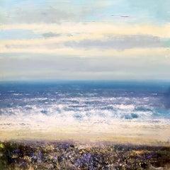 High Tide II - original seascape coastal painting Contemporary 21st C Modern Art
